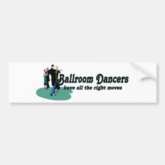Les danseurs de salle de bal ont tous les bons mou autocollant pour voiture