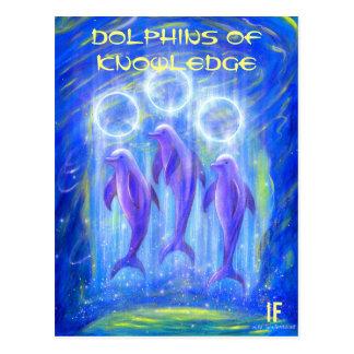 Les dauphins de la connaissance par Mike Cartes Postales