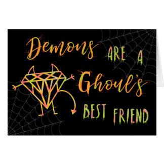 Les démons drôles de Halloween sont un meilleur Cartes