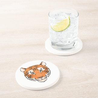 Les dessous de verre de tigre (grès) - grand pour