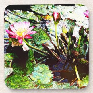 Les dessous de verre en plastique Romance roses