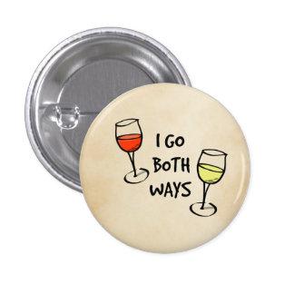 Les deux verres de vin de manières badges