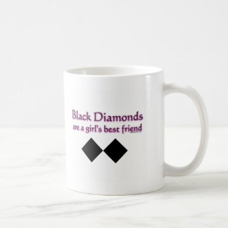 Les diamants noirs sont un meilleur ami de filles mug