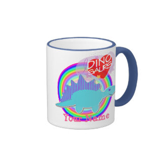 Les dinosaures du coeur I (amour) colorent la Mug Ringer