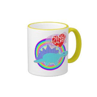 Les dinosaures du coeur I (amour) colorent la tass Tasses À Café
