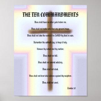Les Dix commandements - affiche croisée d'arc-en-c Posters