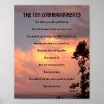 Les Dix commandements - affiche du coucher du sole