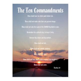 Les Dix commandements - carte postale du coucher