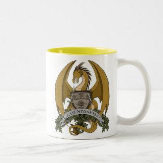 Les dragons de Stonefire Crest (dragon d'or) la Tasse 2 Couleurs
