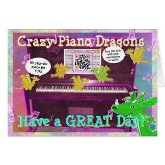 Les dragons fous de piano indiquent ont un jour carte de vœux