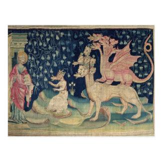 Les dragons vomissant des grenouilles carte postale