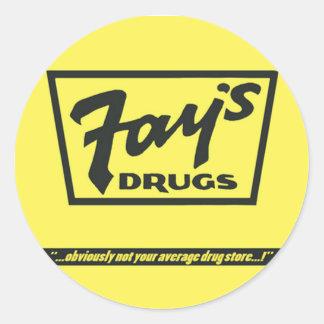 Les drogues de la fée | le sac jaune immortel sticker rond