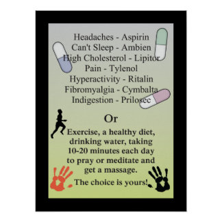 Les drogues ou obtiennent un massage affiche