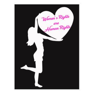 Les droits de la femme sont carte postale de