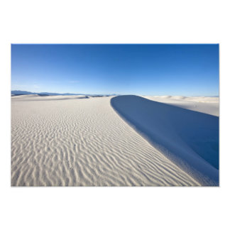 Les dunes de sable au blanc ponce le monument nati impression photographique