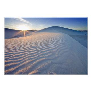 Les dunes de sable au blanc ponce le monument nati impressions photo