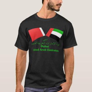 Les EAU et tuiles de drapeau de Dubaï T-shirt