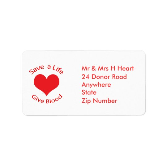 Les économies rouges de coeur par vie donnent des étiquette d'adresse