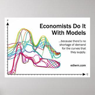 Les économistes le font avec l'affiche de slogan d posters