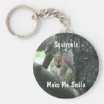 Les écureuils me font l'animal Keychain de sourire Porte-clefs