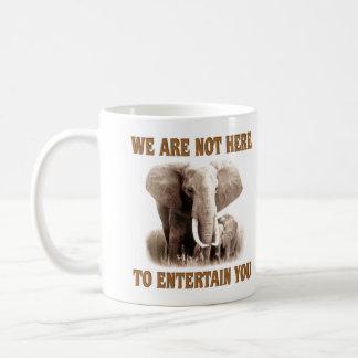 Les éléphants méritent le respect tasse