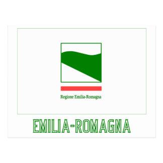 Les Émilies-Romagne diminuent avec le nom Carte Postale