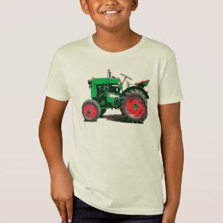 Les enfants aiment un grand tracteur vert T-Shirt