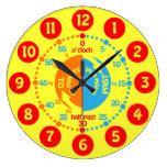 Les enfants apprennent à dire à temps l'horloge mu