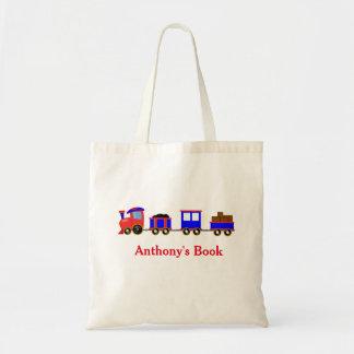 Les enfants bleus rouges de train ont appelé la sac en toile budget