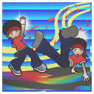 Les enfants de danse de hip hop impriment le tissu