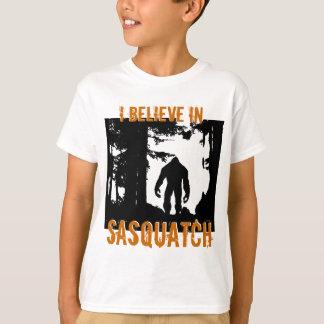Les enfants I croient au T-shirt de Sasquatch
