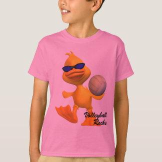 Les enfants refroidissent le T-shirt de roches de