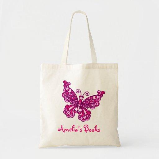 Les enfants roses de papillon ont appelé le sac fo
