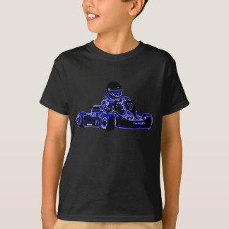 Les enfants sont chemise dure de KART de course T-shirt