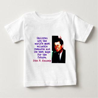 Les enfants sont le monde - John Kennedy T-shirt Pour Bébé
