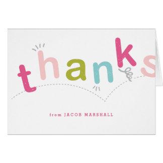 Les enfants vous remercient carte pour notes