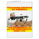 Les ennemis de l'Amérique meurent pour leur pays 1 Carte De Vœux