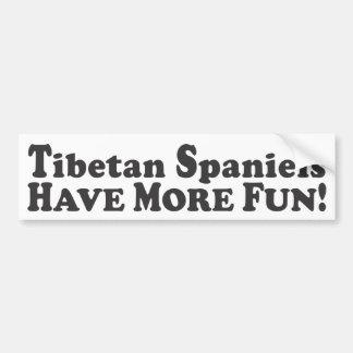Les épagneuls tibétains ont plus d'amusement ! - A Autocollant Pour Voiture