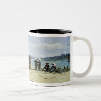 Les épouses des pêcheurs bretons, 1870-73 (huile s mug bicolore