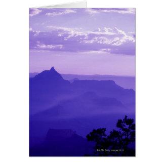Les Etats-Unis, Arizona, brume au-dessus de canyon Carte De Vœux