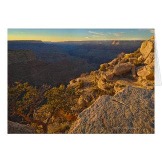 Les Etats-Unis, Arizona, canyon grand au coucher Cartes