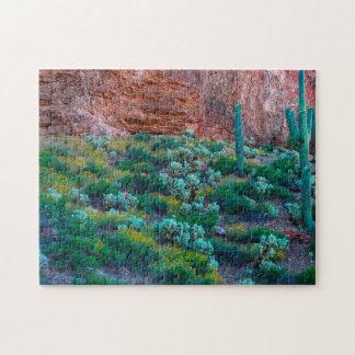 Les Etats-Unis, Arizona. Désert Flora Puzzle