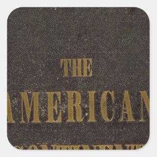 Les Etats-Unis continents américains Sticker Carré