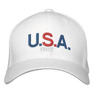 Les Etats-Unis D'ABORD - PAC PERSONNALISABLE - Casquette Brodée