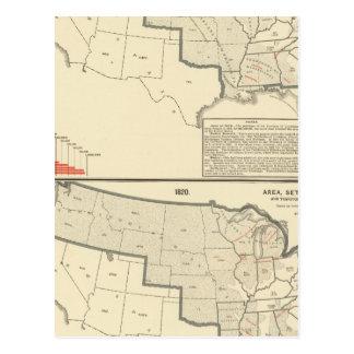 Les Etats-Unis deux cartes lithographiées par