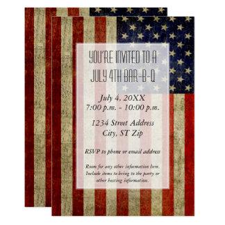 Les Etats-Unis diminuent avec une partie vintage Carton D'invitation 12,7 Cm X 17,78 Cm