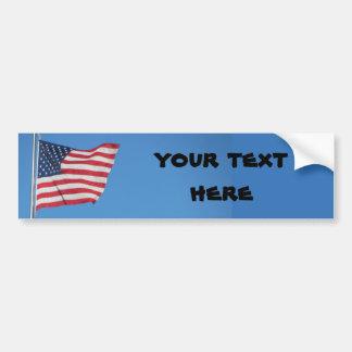 Les Etats-Unis diminuent avec votre texte Autocollant Pour Voiture
