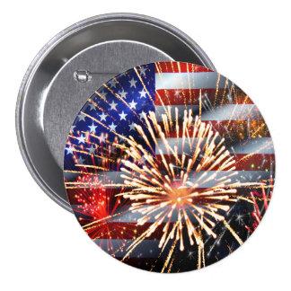 Les Etats-Unis diminuent et des feux d'artifice Badges