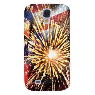 Les Etats-Unis diminuent et des feux d'artifice Coque Galaxy S4