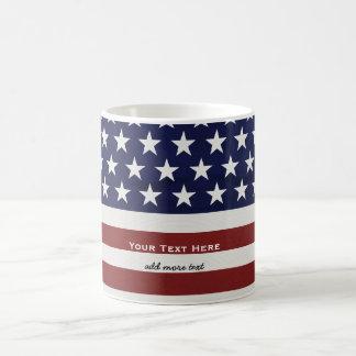 Les Etats-Unis drapeau américain coutume Mug Blanc